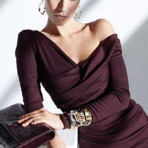 Diane Von Furstenberg Bentley Wrap Ruched Wool Top